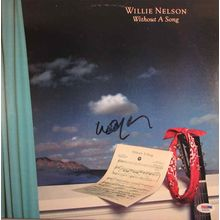 Willie Nelson Signed Record Album  LP Certified Authentic PSA/DNA COA