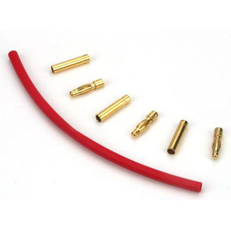 Gold Bullet Connector Set, 4mm (3)