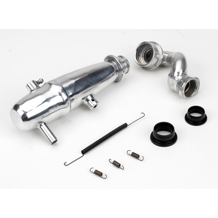 1/10 Revo Power Inline Exhaust System: Polished