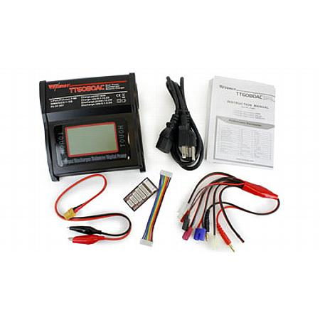 TT6080AC 80W AC/DC Balance Charger with Touch Screen LCD for NiMH/NiCd/LiPo/Li-ion/LiFePO4