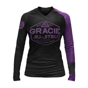 Purple Rank Gracie Rashguards (Women)