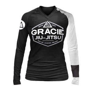 White Rank Gracie Rashguards (Women)