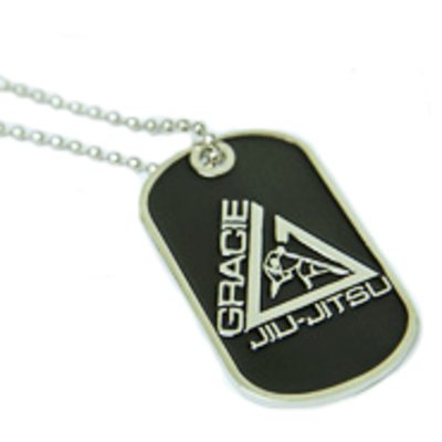 Gracie Jiu-Jitsu Metal Dog Tag