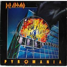 Def Leppard Pyromania Signed Record Album LP Certified Authentic PSA/DNA COA