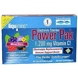 TMR Electrolyte Stamina Power Pak Mixed Berry, Non-GMO, 30 Packets