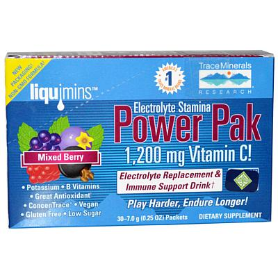 TMR Electrolyte Stamina Power Pak Mixed Berry, Non-GMO, 30 Packets