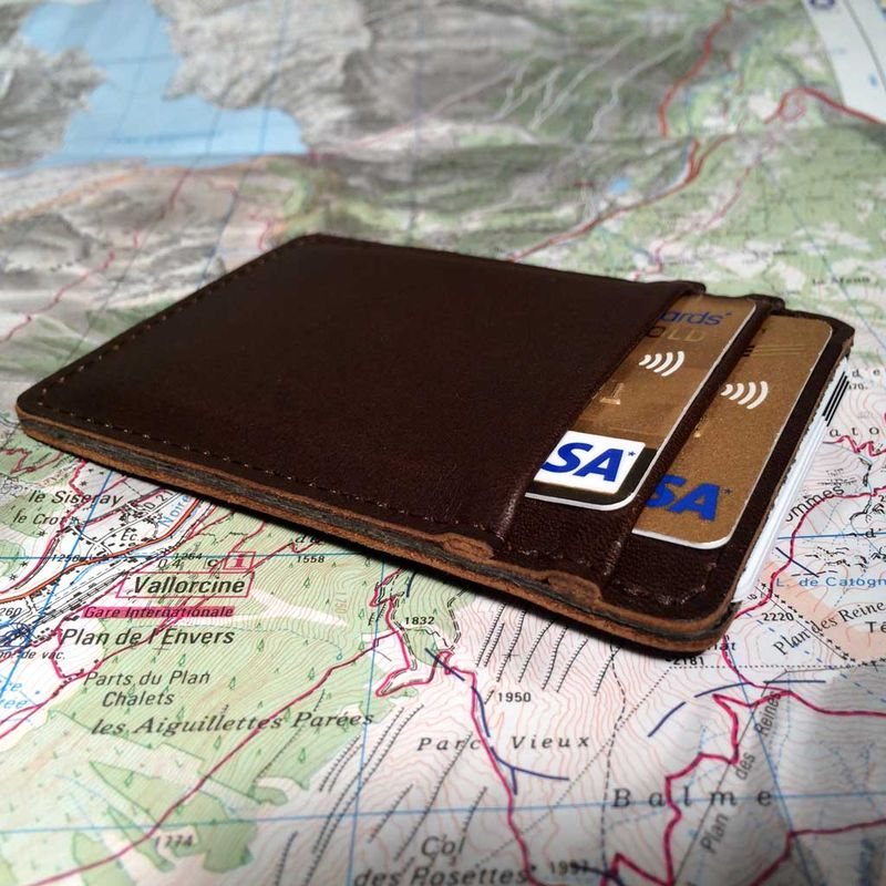 New Full Grain Leather Card Holder by Superior Titanium Products, Inc. WB13
