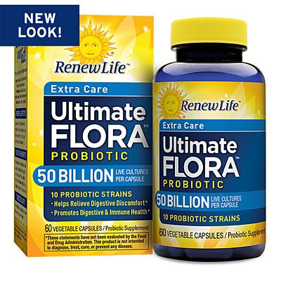 Renew Life Ultimate Flora Extra Care 50 B, 60 Capsules