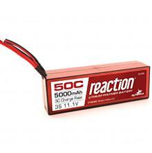 Reaction 11.1V 5000mAh 3S 50C LiPo, Hardcase: EC3