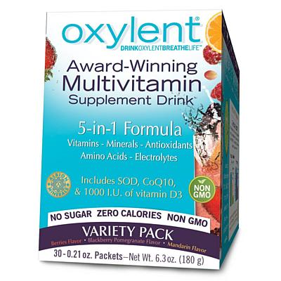 Vitalah Oxylent, Variety Pack, 30 6g Packets