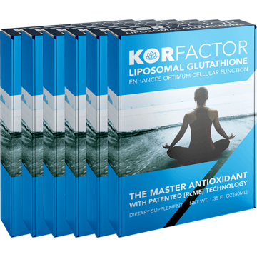 KORfactor™ Liposomal Glutathione 1.35FL OZ SIX BOXES