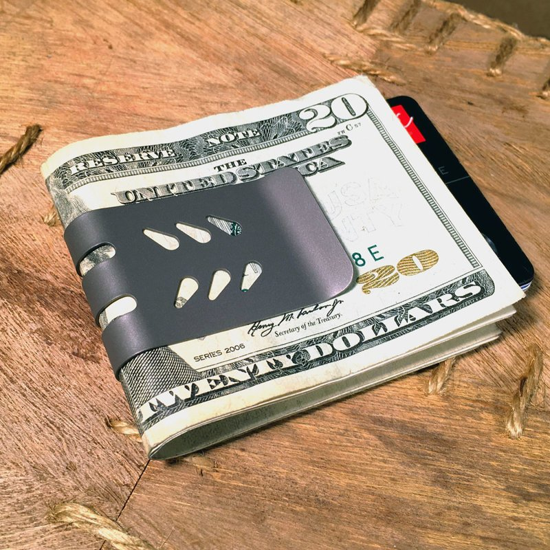 The Mini Viper Titanium Money Clip By Superior Titanium Products Inc