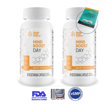 2 Bottles of MindBoost Day for 15% OFF - You Save $11.70