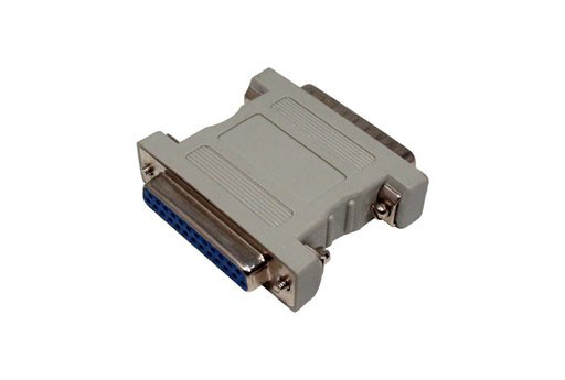 Front View: DB25 Female - DB25 Female, SCSI Adapter