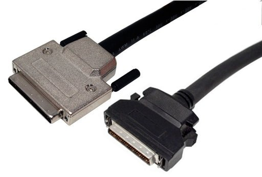 VHDCI MALE - HD50 MALE WITH ACTIVE HIGH-BYTE TERMINATION