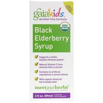 Black Elderberry Syrup for Kids- 3oz - Gaia Kids