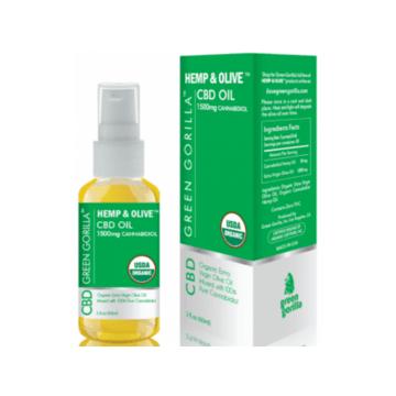 CBD Organic Hemp & Olive Oil 1500mg - THC Free - Green Gorilla