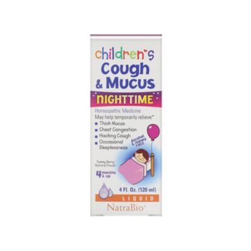 Children's Cough & Mucus Nighttime - Natra Bio