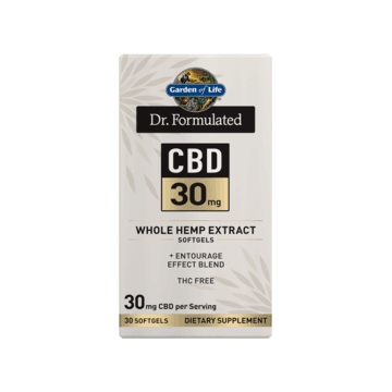 Dr. Formulated CBD 30mg Softgels 30ct - Garden of Life