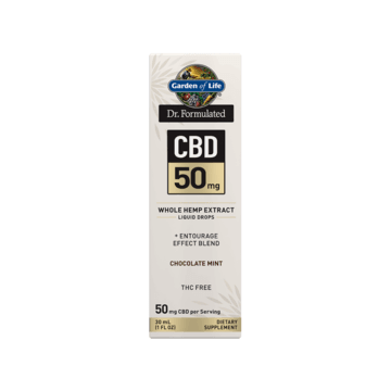 Dr. Formulated CBD 50mg Dropper Chocolate Mint - Garden of Life