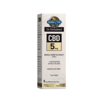 Dr. Formulated CBD 5mg Spray Chocolate Mint- Garden of Life