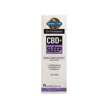 Dr. Formulated CBD+ Sleep 15mg Dropper - Garden of Life