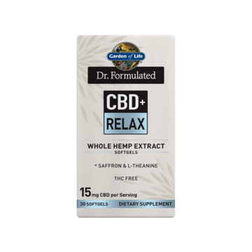 Dr. Formulated CBD+ Relax 15mg Softgels 30ct - Garden of Life