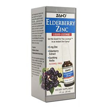 Elderberry Zinc Liquid Lozenge - 1oz - Zand