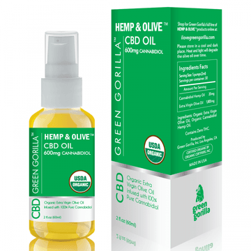 Hemp & Olive CBD Oil - 600mg - Green Gorilla