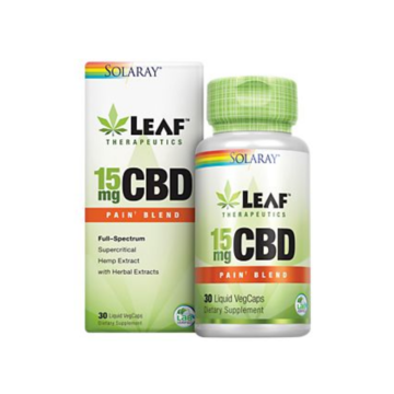 Leaf Therapeutics 15mg CBD Pain Blend - Solaray