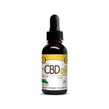 PlusCbd Oil Gold Drops - 2oz Peppermint Flavor - CV Sciences
