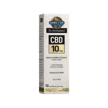 Dr. Formulated CBD 10mg Dropper Chocolate Mint -  Garden of Life