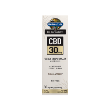Dr. Formulated CBD 30mg Dropper Chocolate Mint - Garden of Life
