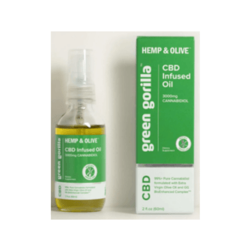 CBD Organic Hemp & Olive Oil 600mg - THC Free - Green Gorilla