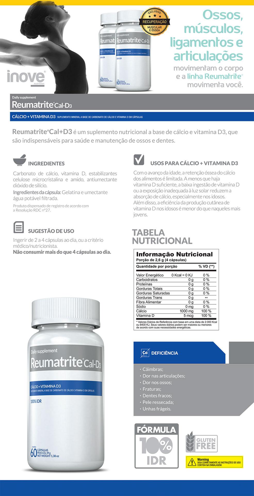 Kit 2 Reumatrite® Cal-D3 + Squeeze Inove Nutrition