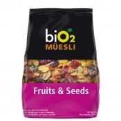 Bio2 Muesli 250g Frutas e Sementes Organic