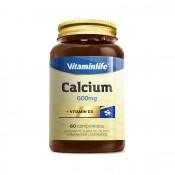 Calcium 600mg + Vit D3 com 60 cápsulas Vitamin Life