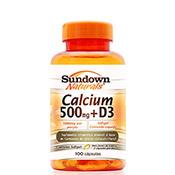 Cálcio 500mg + D com 100 Cápsulas Softgels Sundown