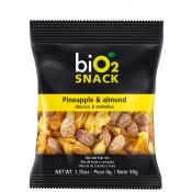 Bio2 Snack 50g Bio 2 Organic Abacaxi e Amêndoa