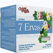Chá 10 sachês Com 12g Chá Mais - Sete Ervas