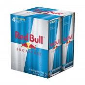 Energético Red Bull sem açúcar pack c/ 4 latas 250ml