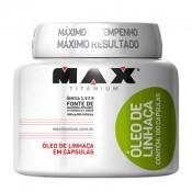 Óleo de Linhaça 100mg 100 cápsulas Max Titanium
