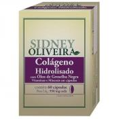 Colágeno Hidrolisado + Groselha Negra + Vitaminas + Minerais 950mg - Sidney Oliveira 60 Cápsulas