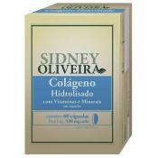 Colágeno Hidrolisado + Vitaminas + Minerais 500 Mg - Sidney Oliveira 60 Cápsulas
