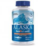 Ômega 3 Óleo de Peixe 500 Mg Alaska 500 Cápsulas
