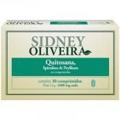 Quitosana + Spirulina + Psyllium 1000mg - Sidney Oliveira 30 Comprimidos