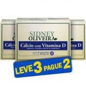 Cálcio 625 Mg + Vitamina D - Sidney Oliveira 10 Comprimidos (Leve 3 Pague 2)