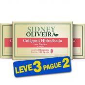 Colágeno Hidrolisado + Biotina 1300mg - Sidney Oliveira 60 Cápsulas (Leve 3 Pague 2)
