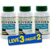 Magnésio 130 Mg + Cálcio 400 Mg + Zinco + Vitamina D - Sidney Oliveira 30 Cápsulas (Leve 3 Pague 2)