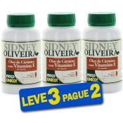 Óleo de Cártamo + Vitamina E - Sidney Oliveira 30 Cápsulas (Leve 3 Pague 2)